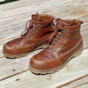 LL Bean East Point Brown Leather Boots 8.5 M